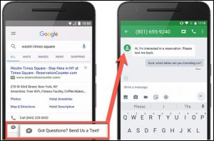 افزونه های google (تماس)