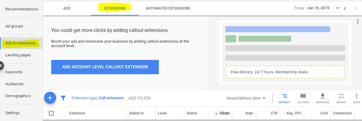 اضافه کردن شماره تماس به گوگل ادوردز
