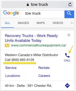 اضافه کردن شماره تلفن در گوگل ادوردز
