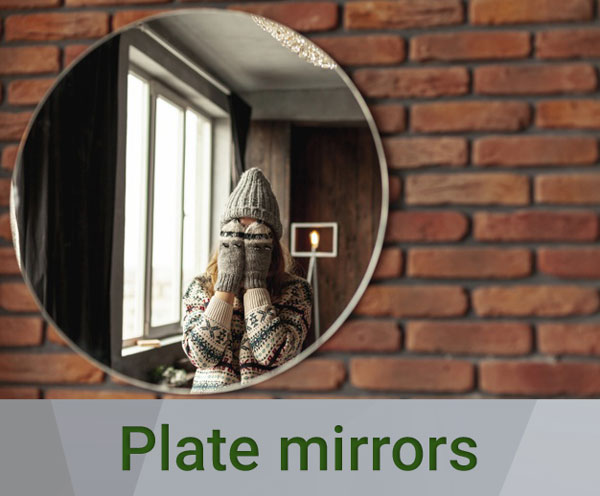 plate mirror