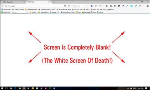 خطای صفحه سفید در وردپرس
