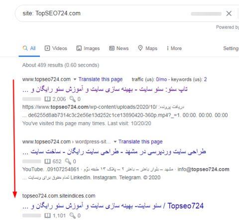 ایندکس صفحات در گوگل
