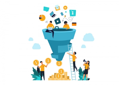 تاثیر قیف بازاریابی بر افزایش فروش اینترنتی