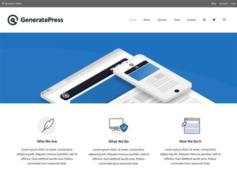 قالب generate press
